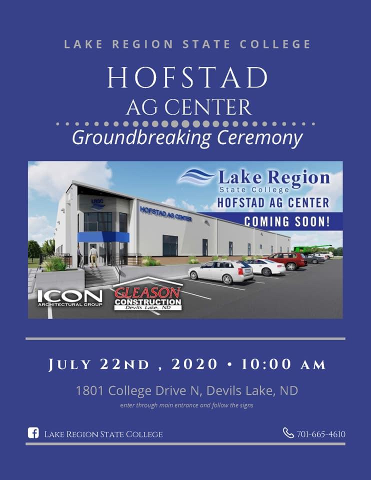 Hofstad Ag Center groundbreaking flyer