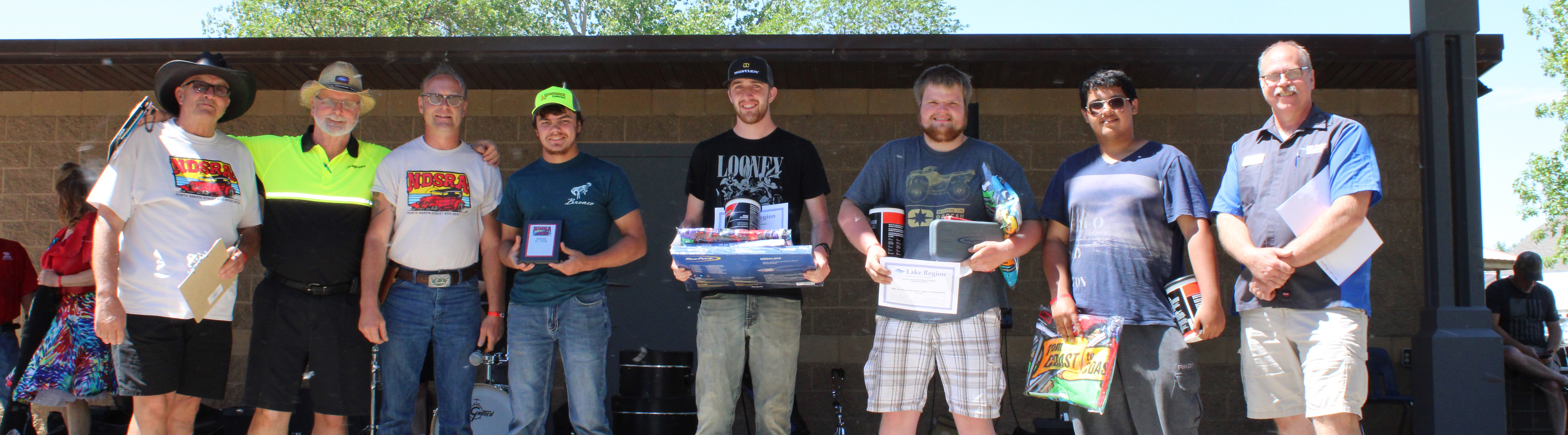 Winners and sponsors of 21 and Under contest