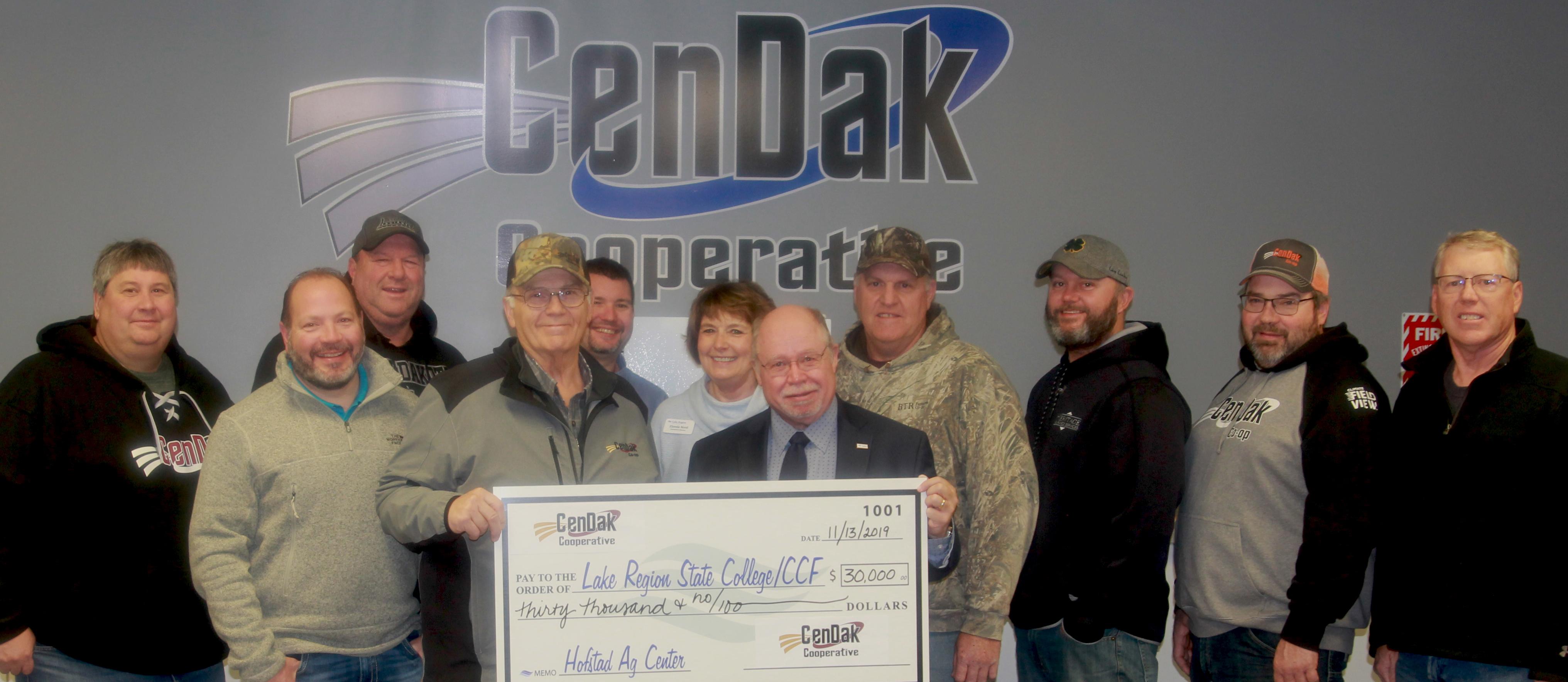 Members of CenDak Board, management, and LRSC representatives