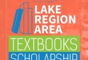 Textbook scholarship graphic